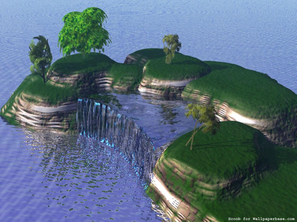 3D landscape Paysage 3D